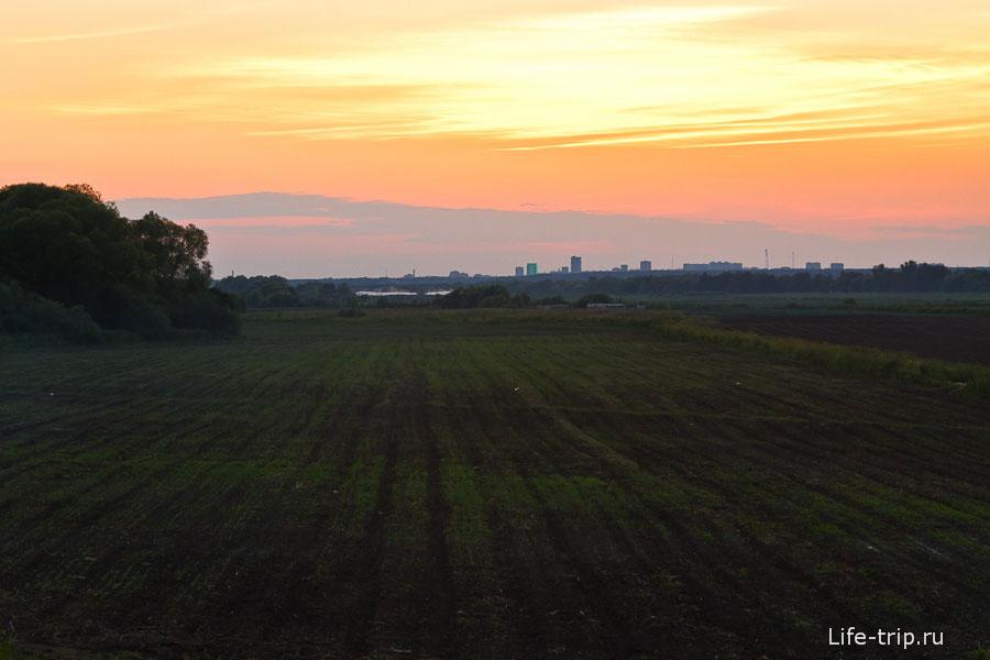 Закат недалеко от Пущино