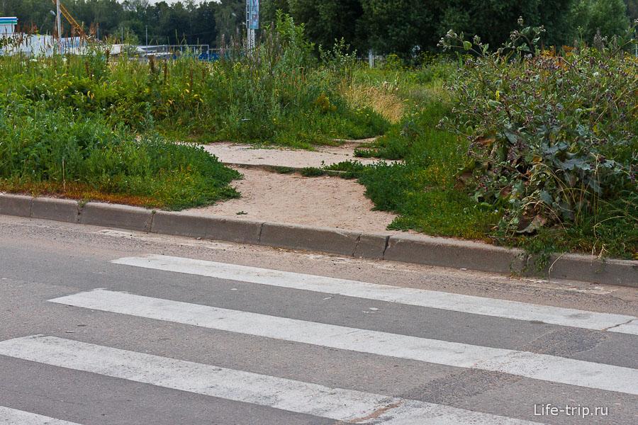 Съездов около пешеходных переходов замечено не было
