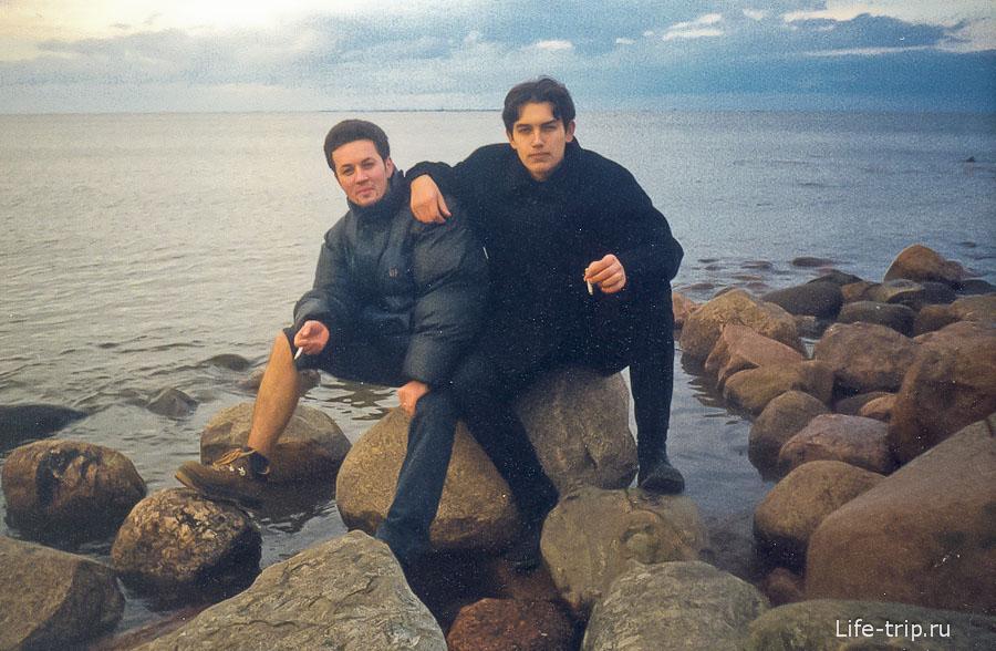 Еле-еле нашел фотографию с сигаретой - берег Финского залива