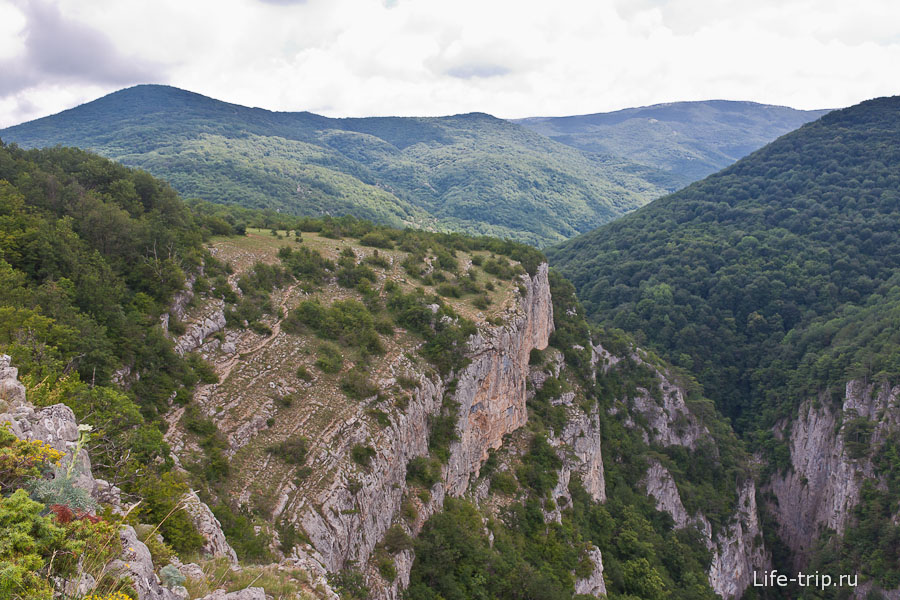 Большой каньон Крыма сверху