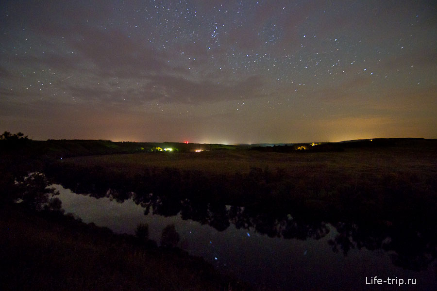 Красивая Меча, Тульская область. ISO1600, 11mm, f2.8, 57sec