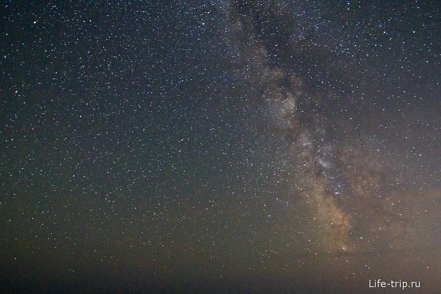 Звездное небо над морем. ISO1600, 11mm, f2.8, 30sec