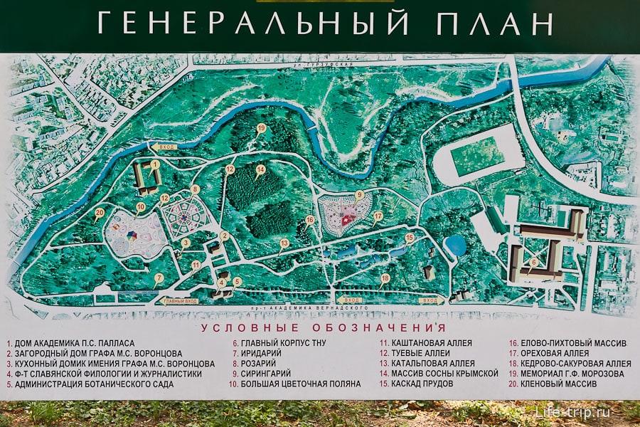 Карта парка Салгирка