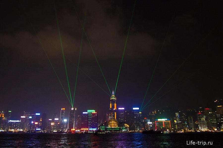 Световое шоу в Гонконге