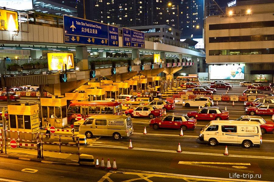 Засилье такси в Гонконге