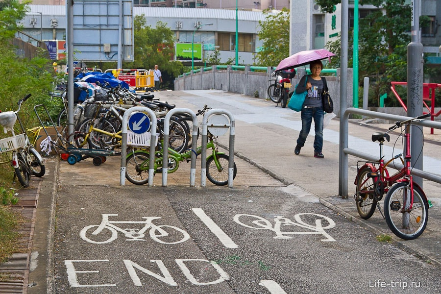 В спальных районах есть велосипедные дорожики