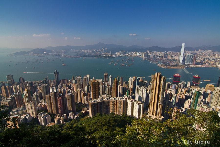 Гонконг с мыса Виктория