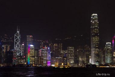 Вид с набережной Коулуна на остров Гонконг