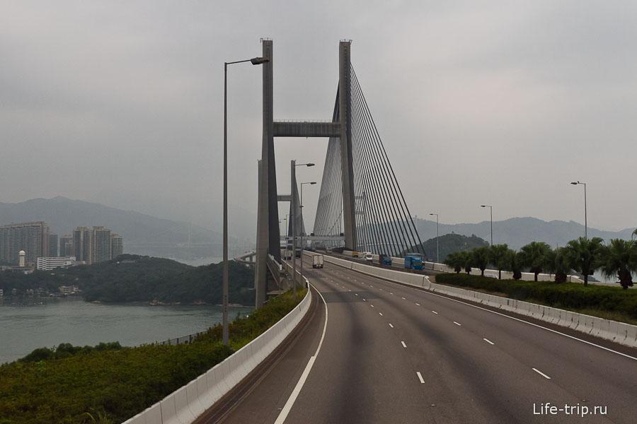 Tsing Ma Bridge - один из самых длинных мостов в мире