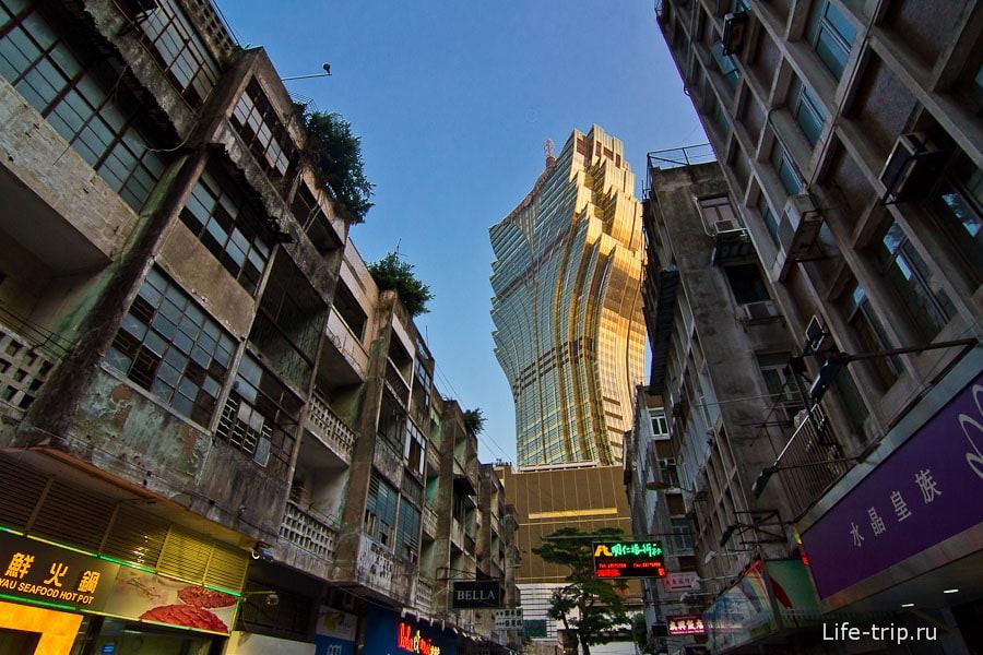 Здание Лисбоа видно почти из любого угла Макао