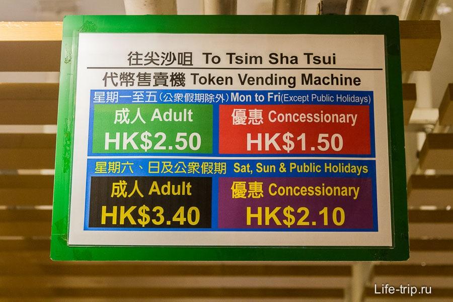 Стоимость парома Star Ferry