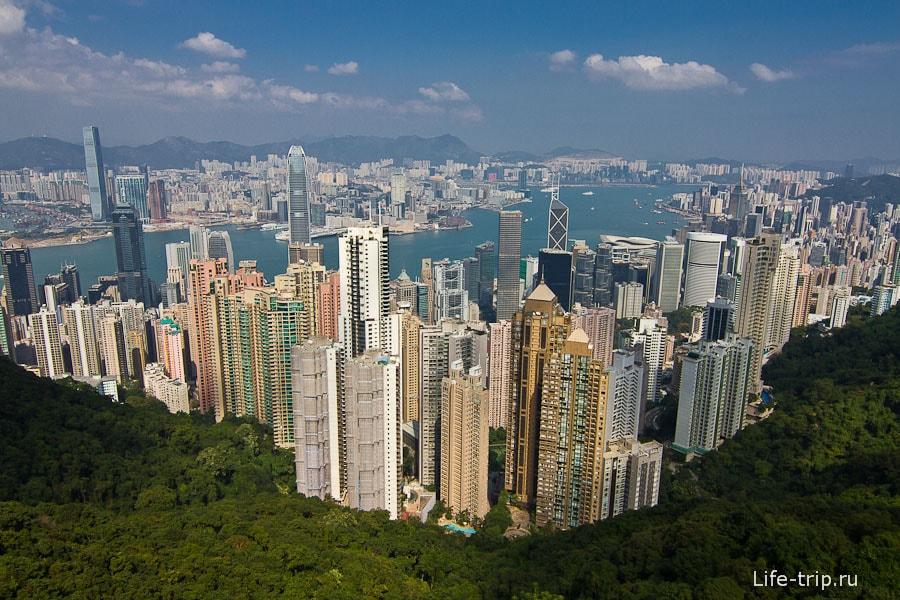 Вид с пика Виктории на Гонконг