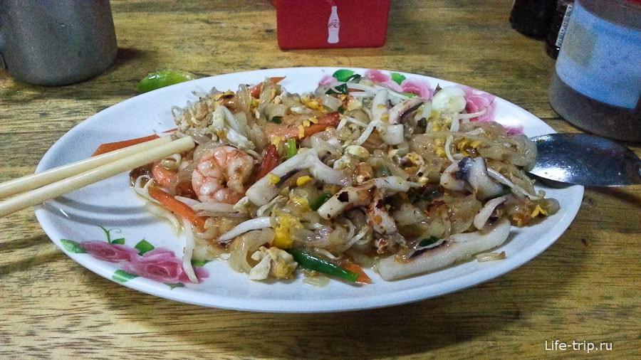 Пад Тай на острове Чанг за 50 бат, в соседнем кафе, но на берегу - уже 100 бат