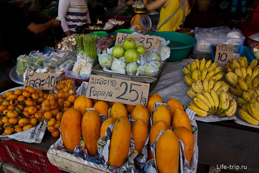 Как была папайя в Чианг Май по 25 бат за кг, так и осталась