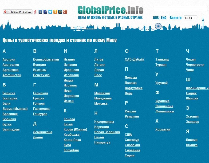 Проект Globalprice.info - информация по ценам, как вам идея?