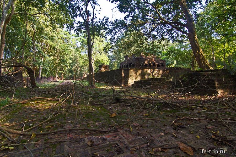 Часть храмов заброшены и не убираются