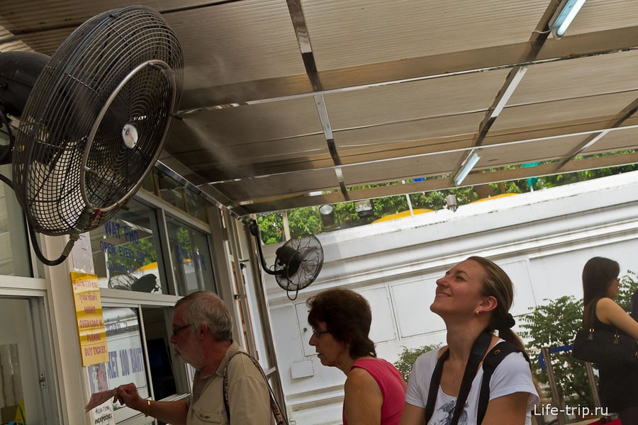 А на улице 35 градусов, вентилятор наше спасение
