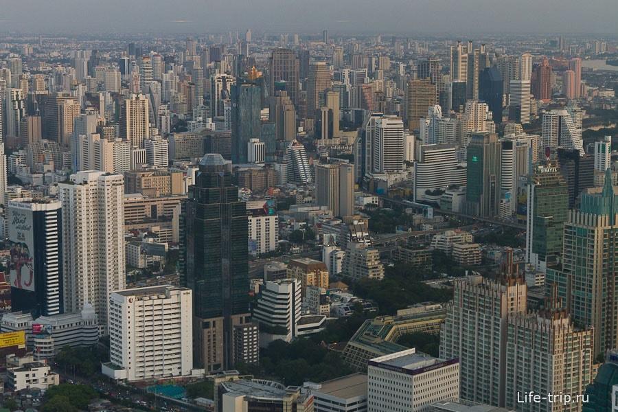 Вид с 77-го этажа Байок Скай