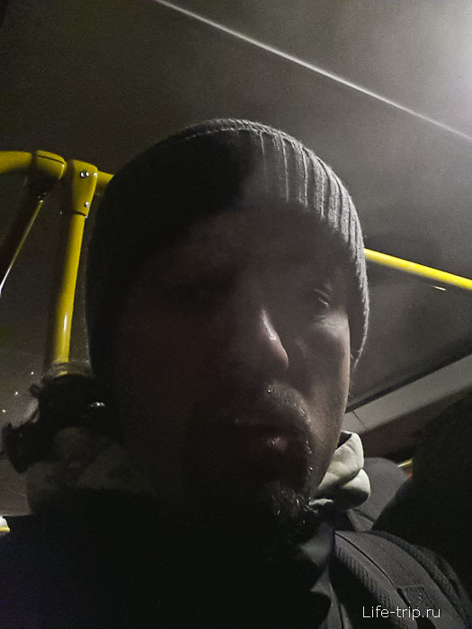 В автобусе, когда стояли, думал копыта откину