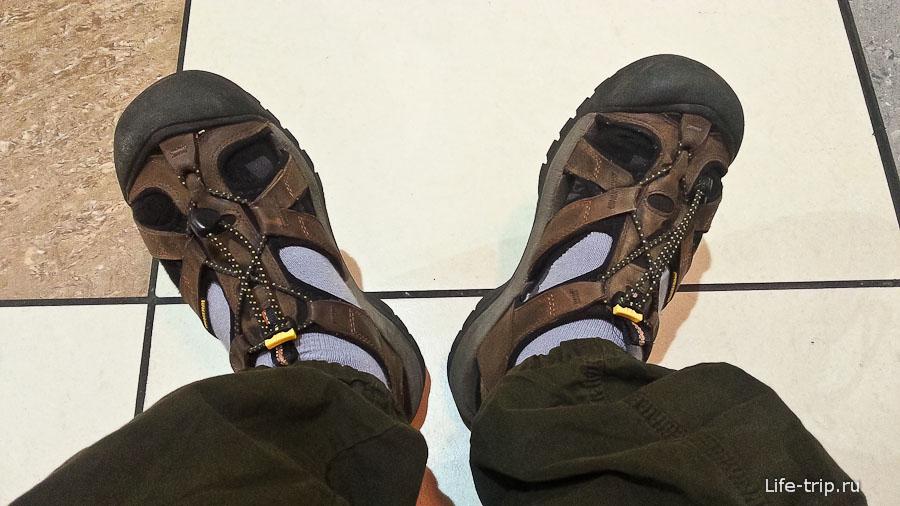 5 носков + сандалии помогут продержаться минут 10 и при минус 36°