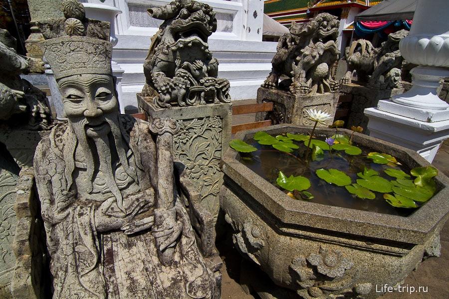Фигуры вокруг действующего храма