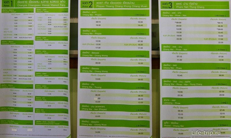 Расписание автобусной компании Green Bus