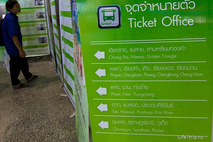Направления компании Green Bus