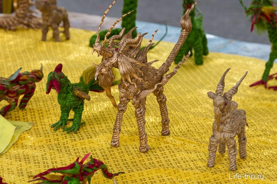 Веревочные дракончики