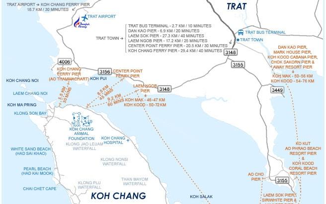 Карта причалов Ко Чанг