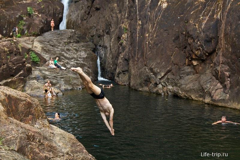 Прекрасное место, чтобы попрыгать в воду