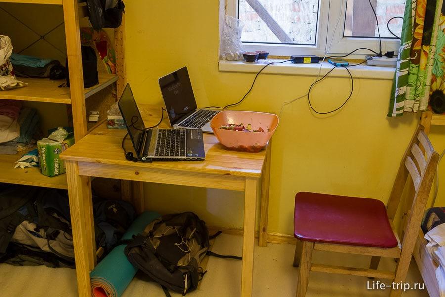 Мой стол, где осуществляется плавный переход с винды на Mac