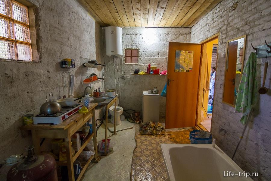 Кухня и ванная у нас в стиле андеграунд
