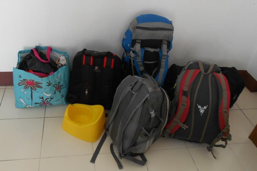 Наши вещи при перелете из Пхукета в Чианг Май, Таиланд