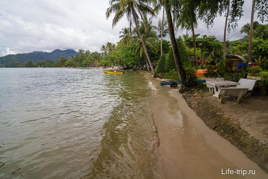 Самый конец Klong Prao около Chok Dee Resort