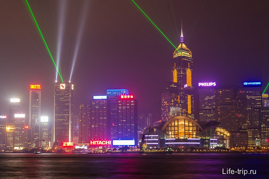 Лазерное шоу в Гонконге (5)