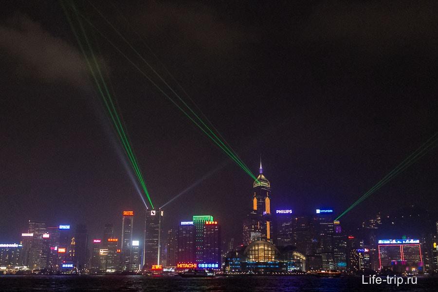 Лазерное шоу в Гонконге (2)