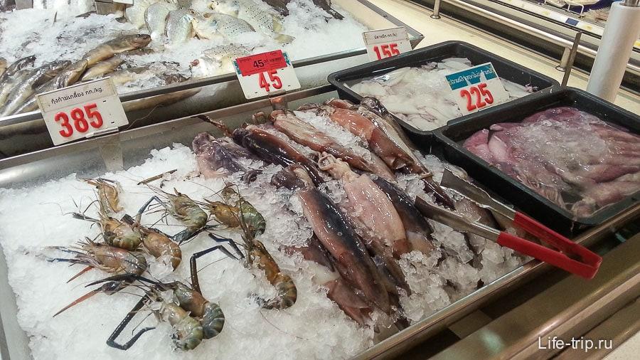 Морепродукты в Биг С
