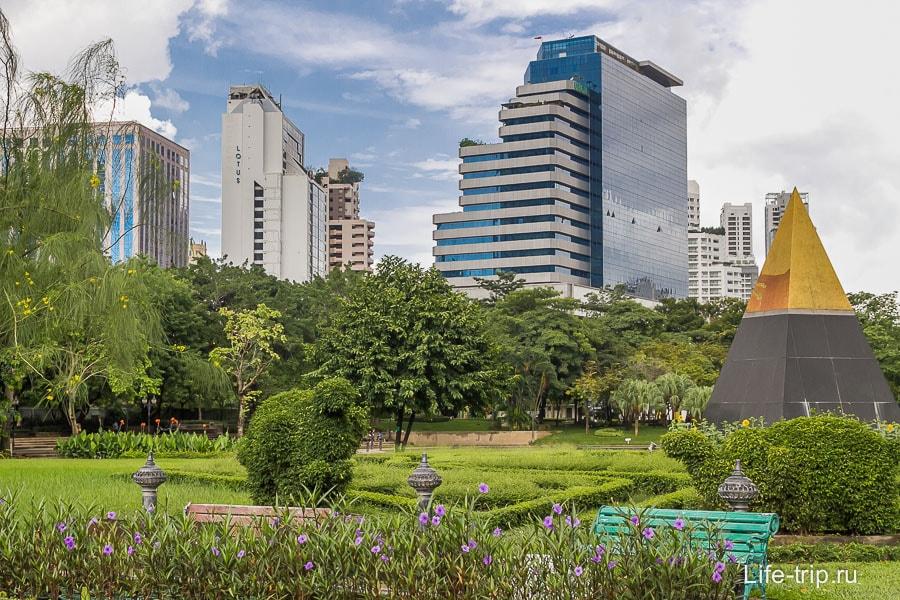 Парк Benjasiri - оазис в мегаполисе