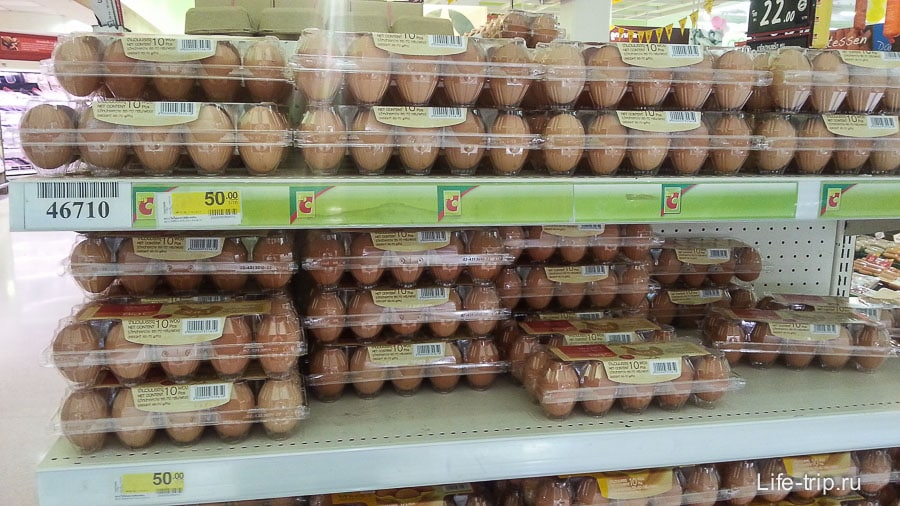 Яйца по 50 бат