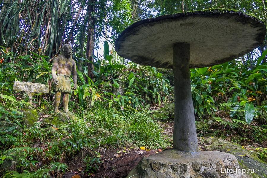 Древний человек и гриб