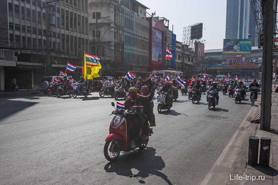 Это не слет байкеров, это перемещение митингующих