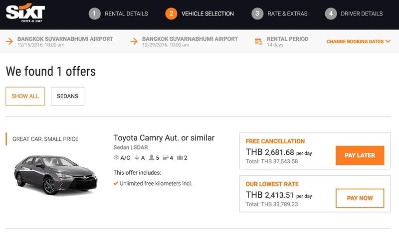 Аренда авто в Таиланде - страховка, документы, цены, советы