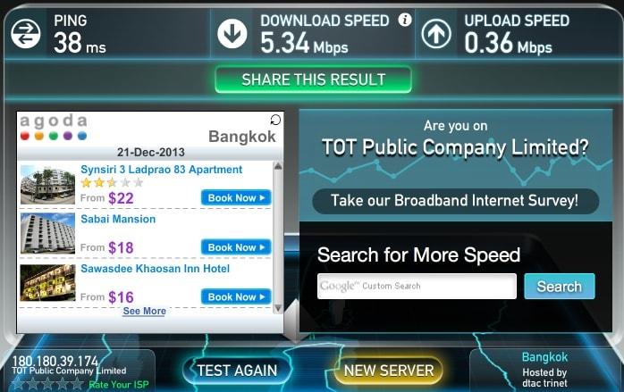 Скорость интернета в квартире