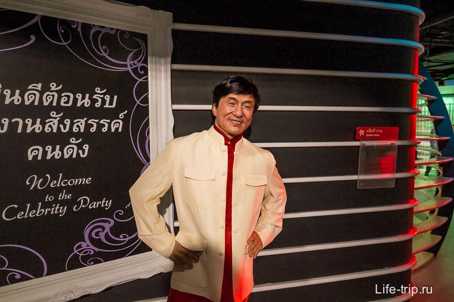Джеки Чан в Музее Мадам Тюссо