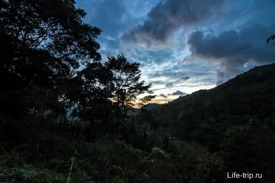 Вечерние виды на горы