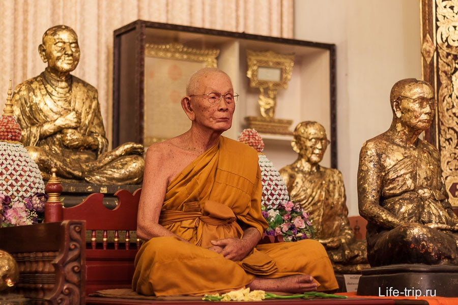 Якобы мумифицированный монах