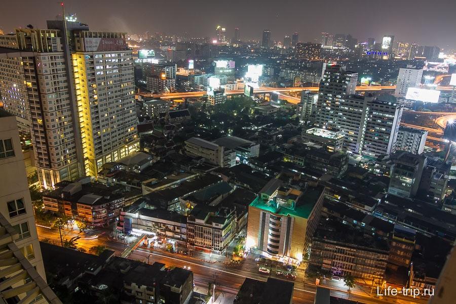 Вид с 29-го этажа на Бангкок