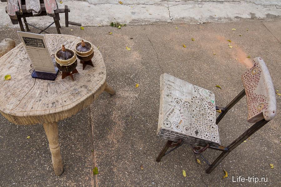 Кофейня с интересной мебелью