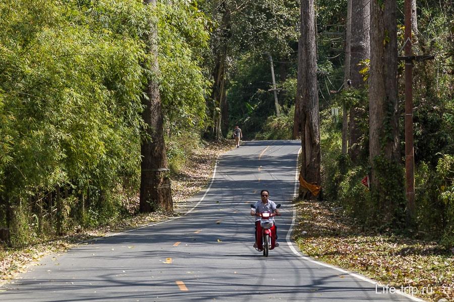 Дорога от трассы до Чианг Дао очень красивая