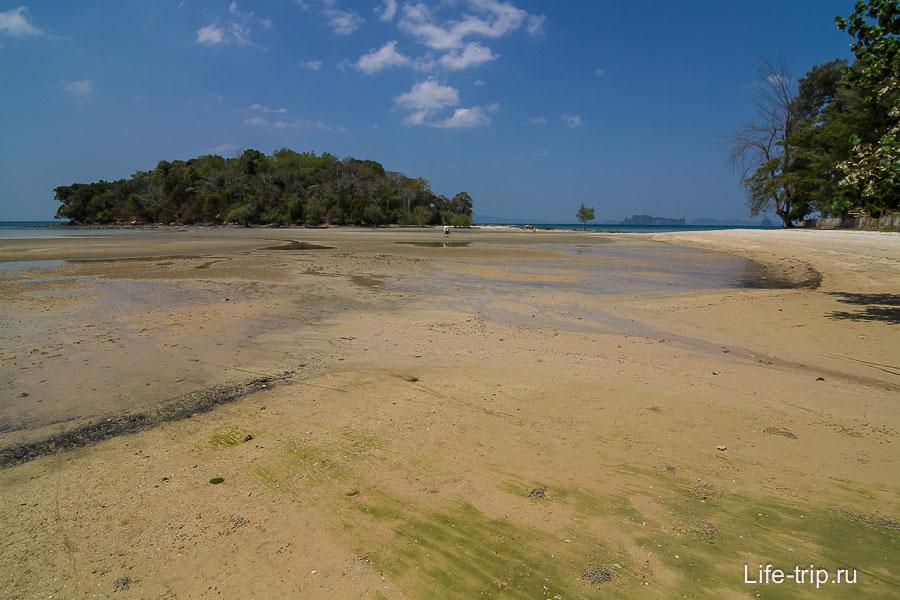 В отлив можно дойти пешком до ближайшего острова